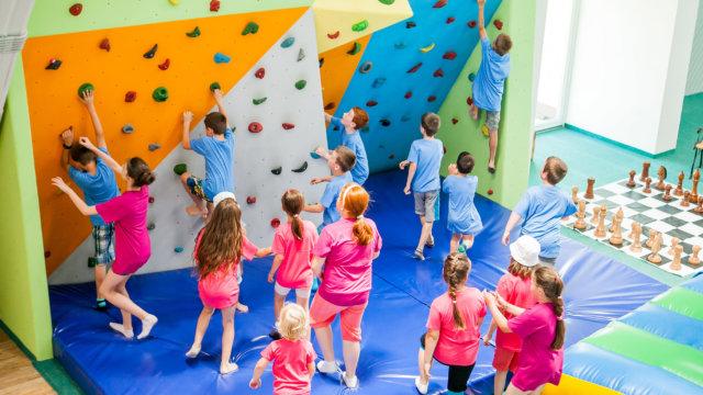 Deň detí 2015 - lezecka stena