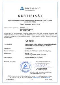 certifikat modul H