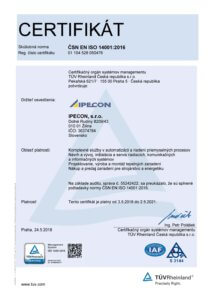 certifikat ISO 9001:2016
