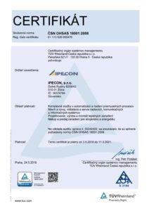 certifikat ISO 18001:2008