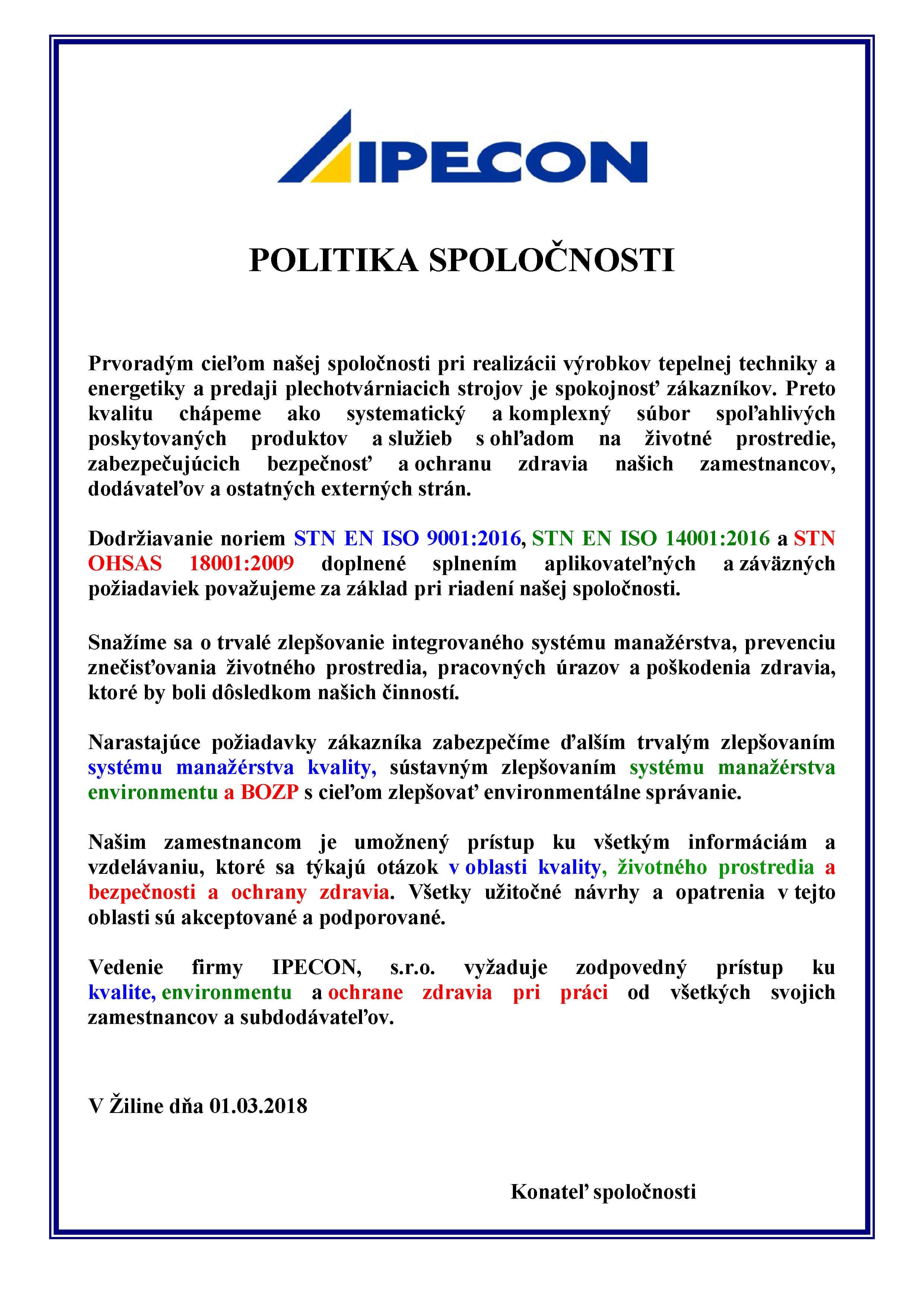 149979137 Politika spoločnosti - IPECON